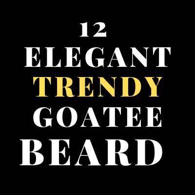 12 ELEGANT TRENDY   GOATEE BEARD STYLES FOR ACTIVE MEN