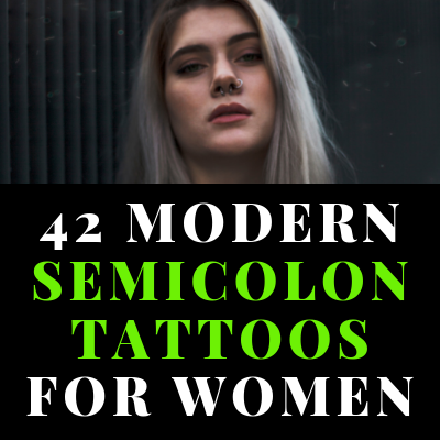42 Modern Semicolon Tattoos for Women Ideas and Placement