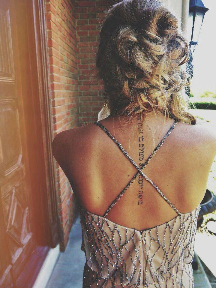 back tattoos women