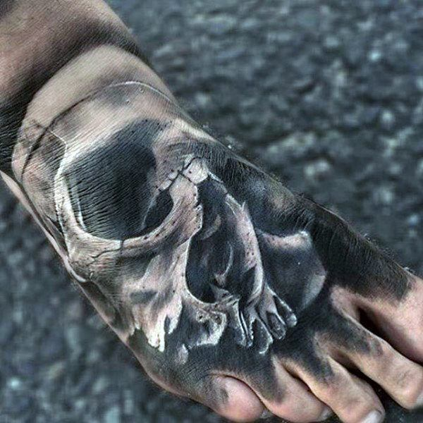 skull tattoos for feet and ankles designs