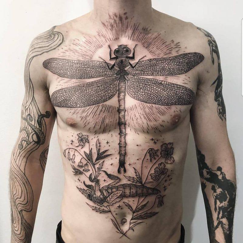 insest best stomach tattoos for guys