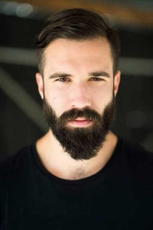 great short hair long beard look in 2021