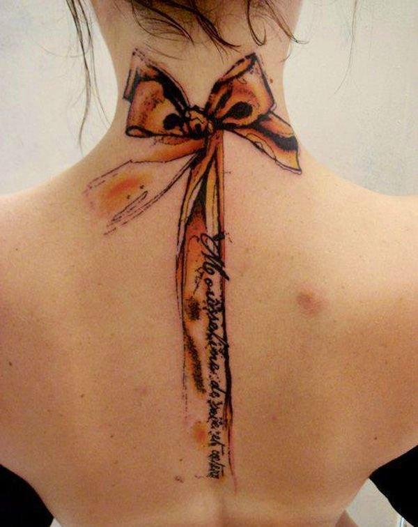 beautiful womens back piece tattoo