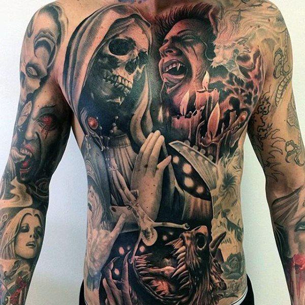 meaningful stomach tattoos for guys images