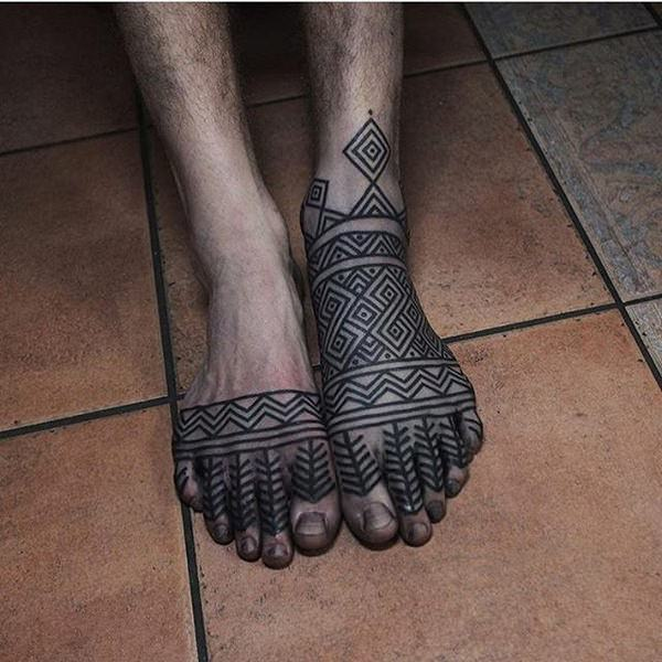 feet tattoos for males
