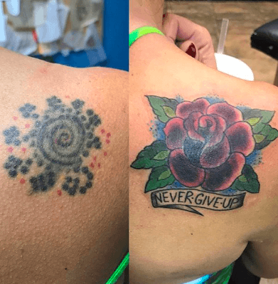 tattoo flower ankle