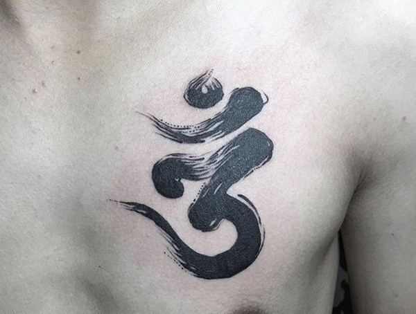 letters small meaning tattoos for guys om chest