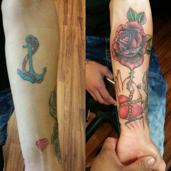good flower cover up tattoos