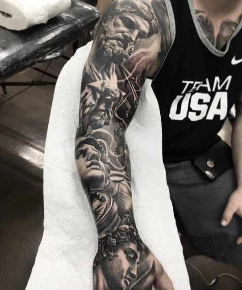full arm tattoo designs for males on arm