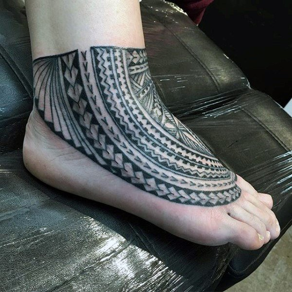 tribal symbols tattoo designs for feet and legs