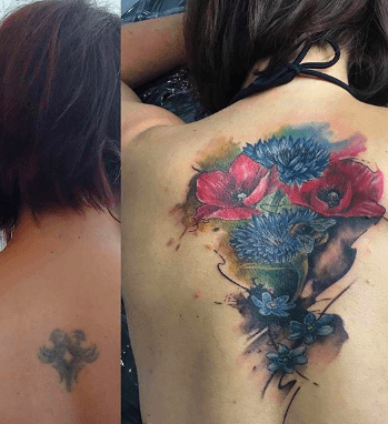 best flowers for cover up tattoos