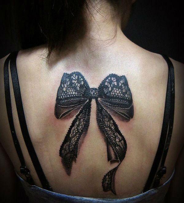 black tattoo ideas for ladies back