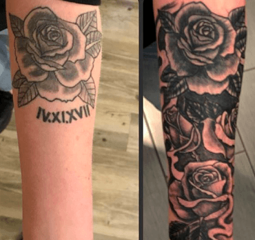 FLOWER COVER UP TATTOO