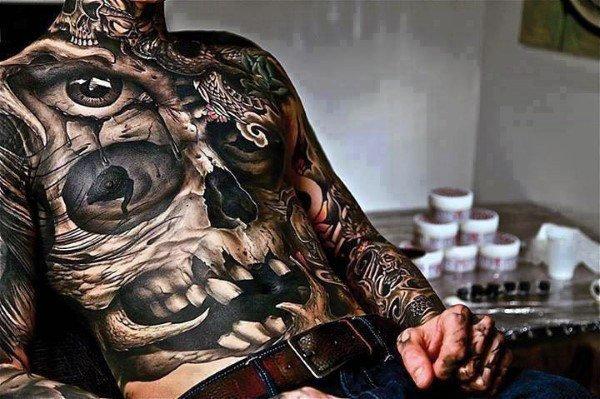 large skull tattoo design images