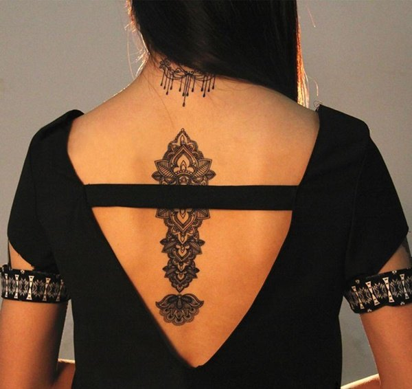 back girl tattoo designs images