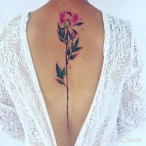 back tattoos on females