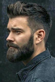 trendy medium length beard styles for male