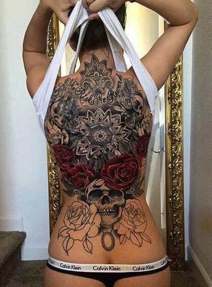 back tattoo for design