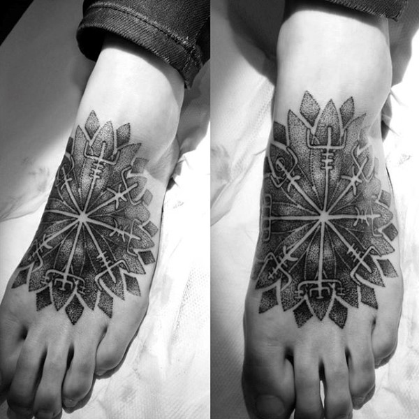 flower tribal foot tattoos for guys images 2021