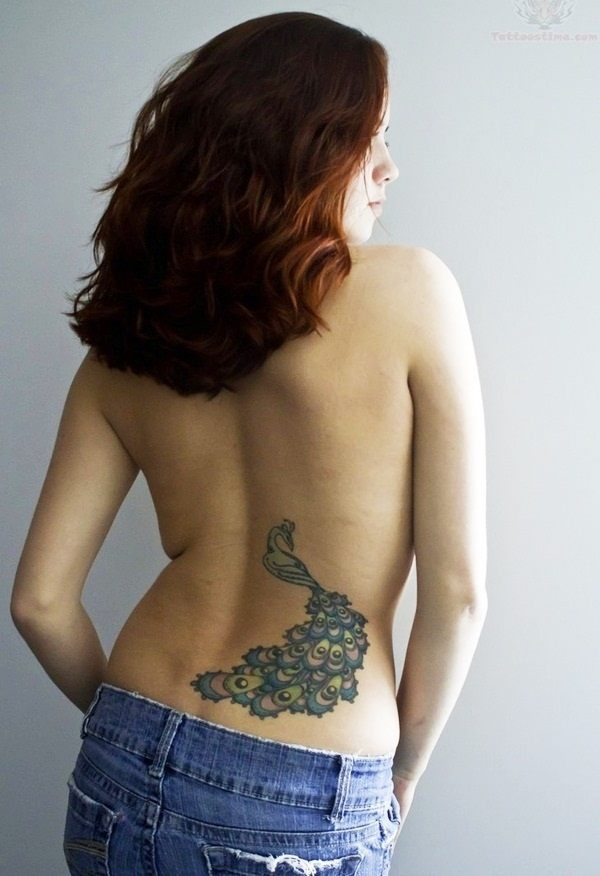 cool back tattoos womens spine design