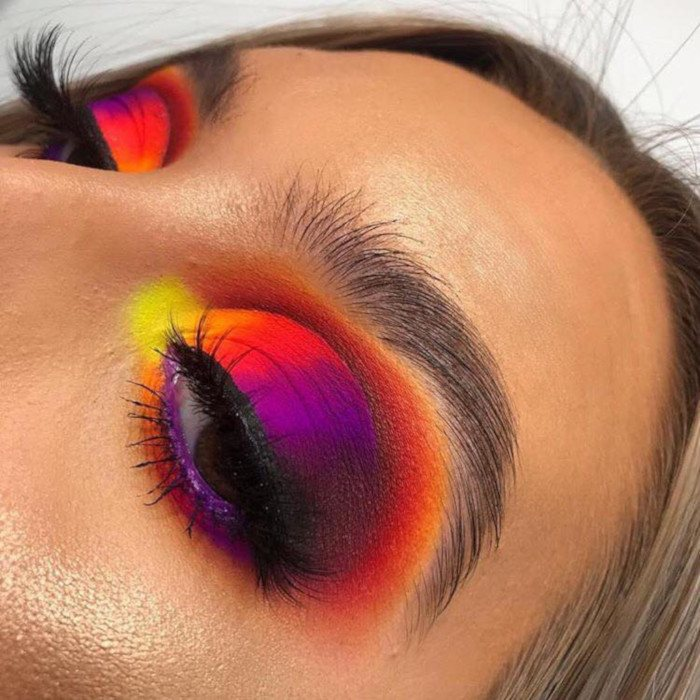 rainbow eyeshadow palette ideas images