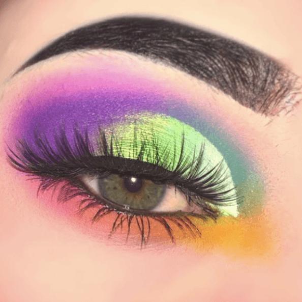 rainbow eye palette