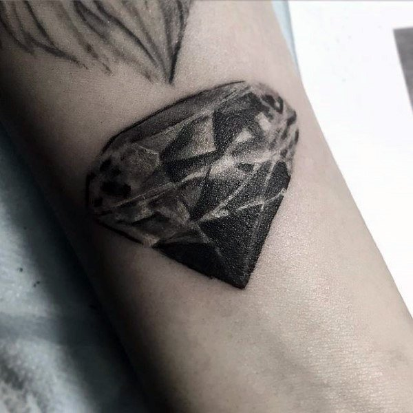 black small geometric diamond tattoo images
