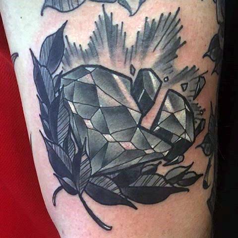 birthstone tattoo for men on arm