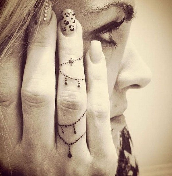 temporary small side finger tattoos image