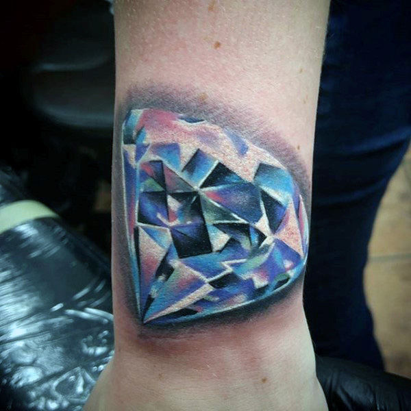 best diamond heart tattoos on wrist