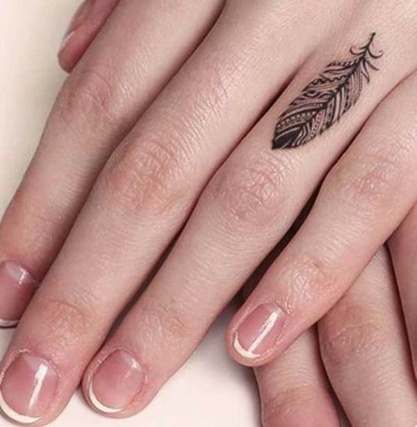creative tattoos designs on finger for ladies