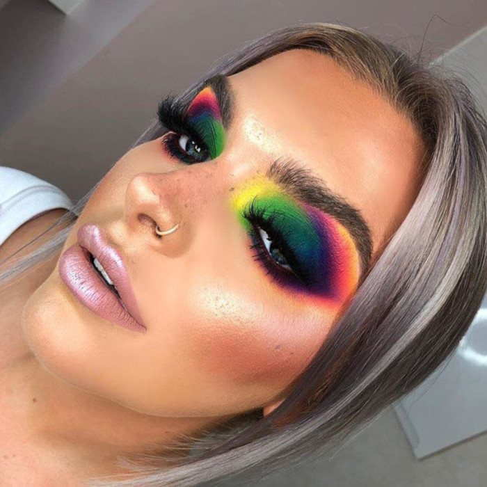 rainbow colors eyeshadow palette ideas