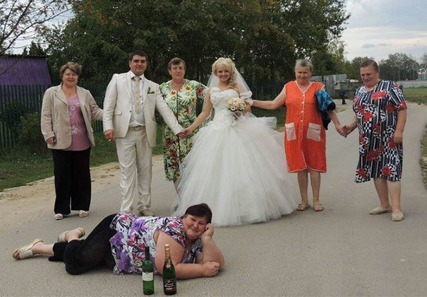 Russian couples choose to let their humor