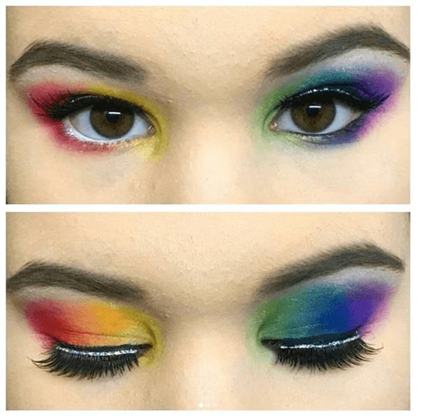 revolution halloween rainbow shadow palette
