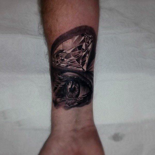 diamond eye tattoo on wrist images