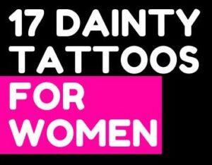 Lower 17 + DAINTY TATTOOS FOR WOMEN Design Symbols