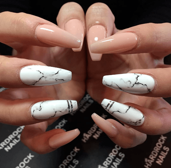 Hottest Marble Nails Ideas