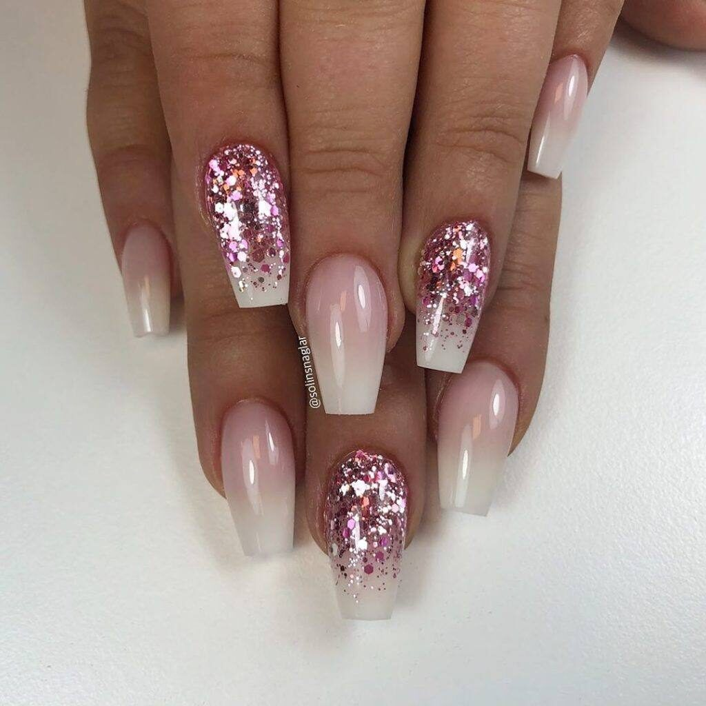 short coffin acrylic nails ombre