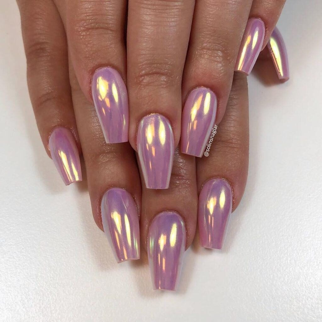 short coffin shaped nails designs