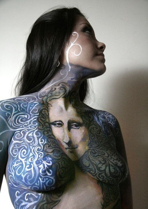 women wearing body paint images