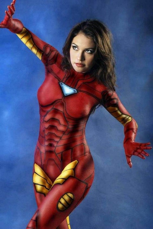 body painting male and female