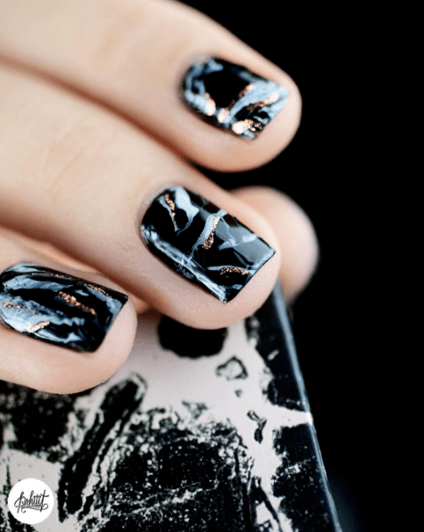 temporary marble nail art picture
