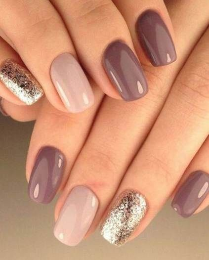 cool grey winter nails