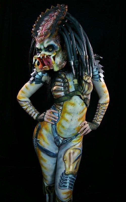 beautiful women body paint
