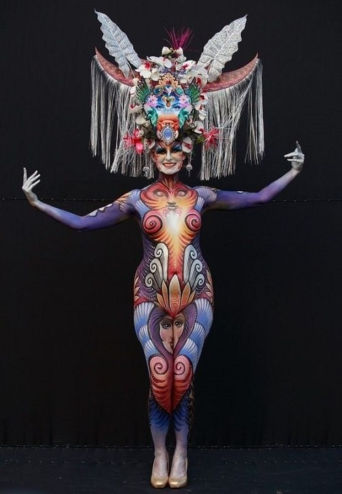 top female body painting images