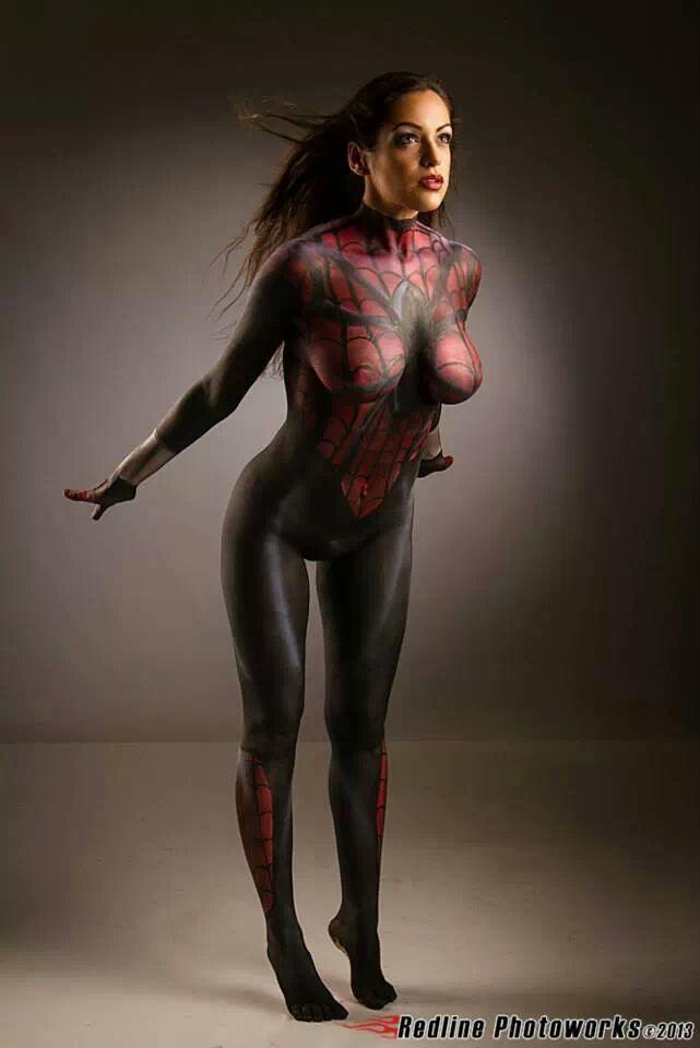 Female Body Paint Models