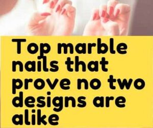 Top marble nails