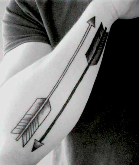 Arrow body art For Men design
