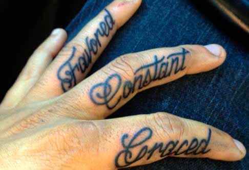 cool finger tattoos for guys