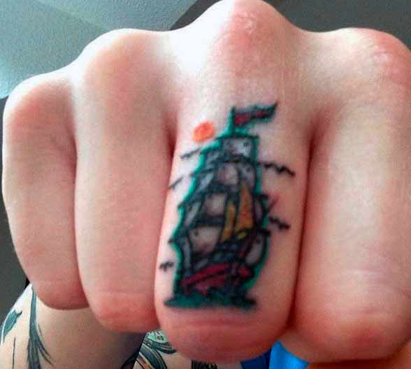 old ship mens finger tattoo ideas images